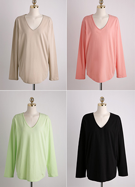 Basic V-Neck T-Shirt, Styleonme