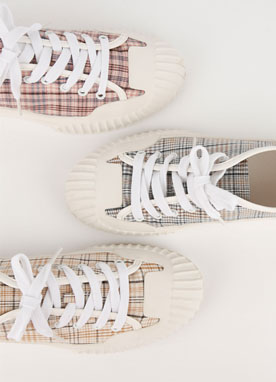 Dailywear Check Print Sneakers, Styleonme