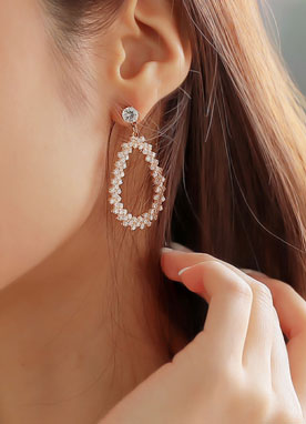 Cubic Teardrop Earrings, Styleonme