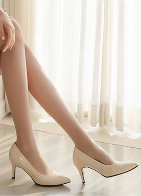 Patent Pointed Stiletto Heels, Styleonme