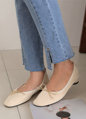 Ribbon Flat Shoes, Styleonme