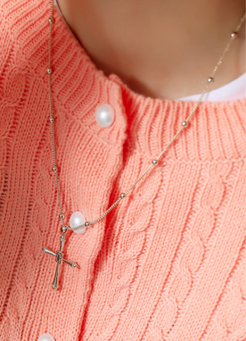 Cross Pendant Necklace, Styleonme