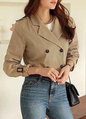 Double-Breasted Short Jacket, Styleonme