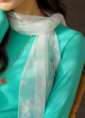 See-through Lace Scarf, Styleonme