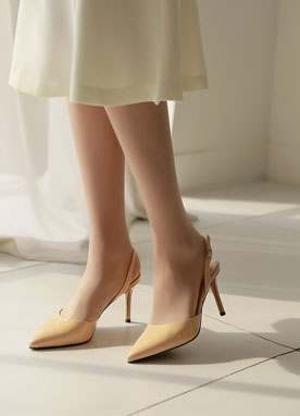 Simple Slingback Stiletto Heels, Styleonme