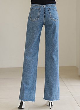 High-Waisted Wide Straight Leg Jeans, Styleonme