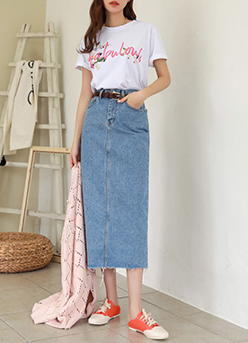 Dailywear Denim Long Skirt, Styleonme