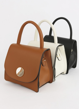 Color Trim 2Way Mini Tote Bag, Styleonme