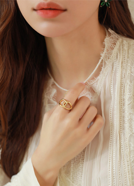 Twist Gold Ring, Styleonme