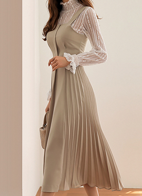 Pleated Long Dress, Styleonme