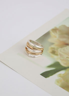 Gold & Silver Stacked Ring, Styleonme