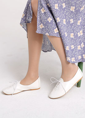 Lace Up Flat Loafers, Styleonme