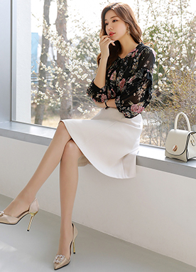 Classic Flared Skirt, Styleonme