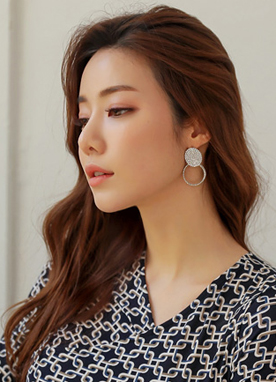 Cubic Double Circle Earrings, Styleonme
