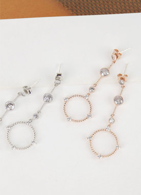 Circle Drop Earrings, Styleonme