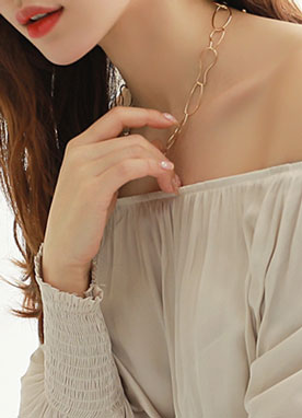 Wavy Gold Chain Necklace, Styleonme