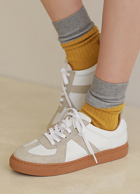 Daily Leather Sneakers, Styleonme
