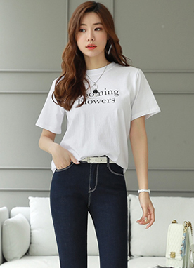 Blooming Flowers Print T-Shirt, Styleonme