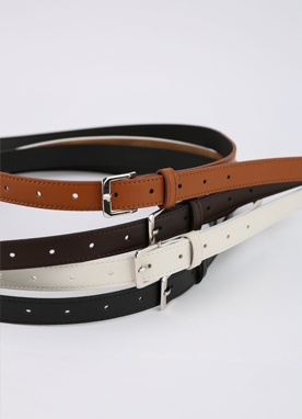 Simple Silver Buckle Belt, Styleonme