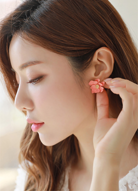 Pastel Flower Earrings, Styleonme