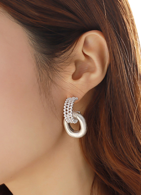 Cubic Stone Earrings, Styleonme