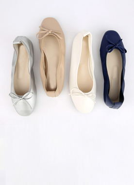 Petite Ribbon Flat Shoes, Styleonme