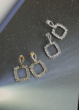 Squared Cubic Drop Earrings, Styleonme