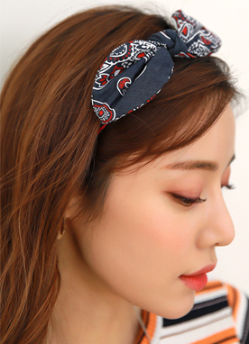 Bandana Ribbon Hair Band, Styleonme