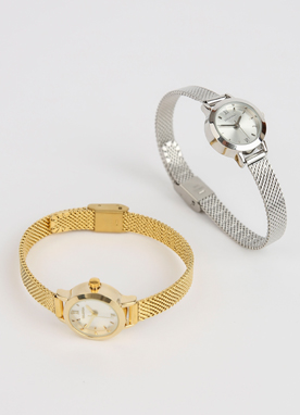 Metal Simple Round Watch, Styleonme