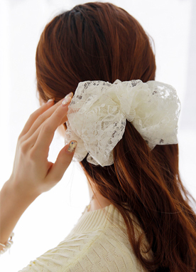 Lace Scrunchie Hair Tie, Styleonme