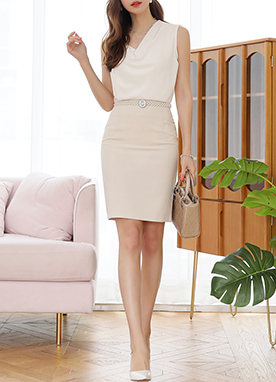 Basic Slim H-Line Skirt, Styleonme