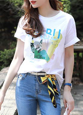 Tropical Collage Print T-Shirt, Styleonme