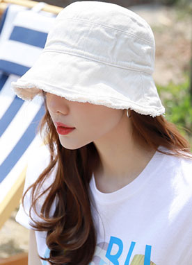 Frayed Bucket Hat, Styleonme