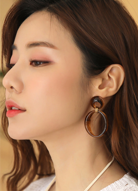 Double Marble Hoop Earrings, Styleonme