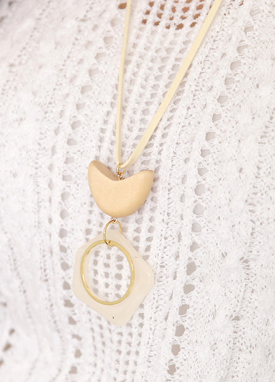 Half Moon Suede Necklace, Styleonme