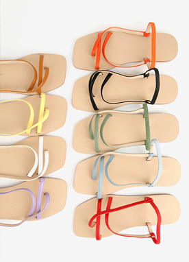 9Colors Cross Strap Flat Sandals, Styleonme