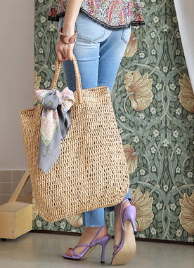 Natural Rattan Tote Bag, Styleonme