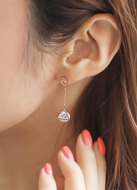 Triangle Cubic Drop Earrings, Styleonme