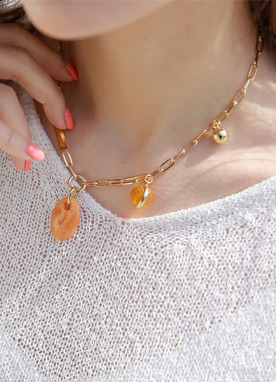 Gemstone Chain Necklace, Styleonme