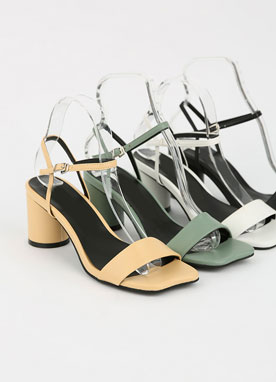 Ankle Strap Round Heel Sandals, Styleonme