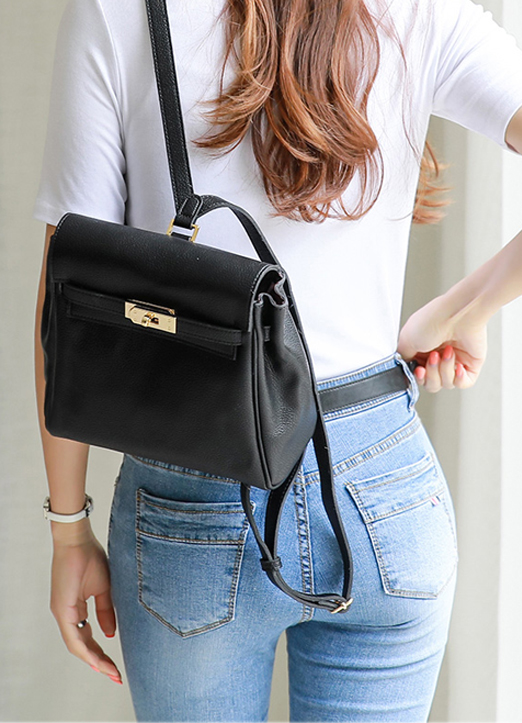 Chic Squared Backpack, Styleonme