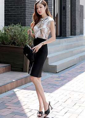 Luxury Tassel Print Ruffle Sleeveless Blouse, Styleonme
