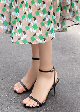 Simple Sandal Heels, Styleonme