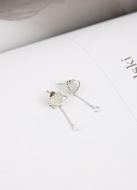 Cubic Heart Earrings, Styleonme
