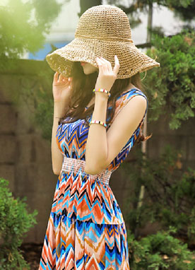 Ribbon Straw Floppy Hat, Styleonme