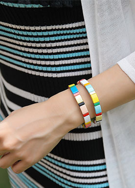 Colorful Rainbow Bracelet, Styleonme