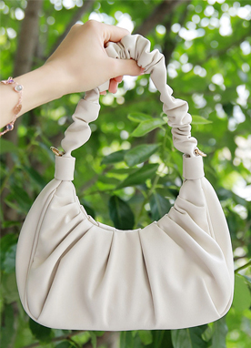 Shirred Shoulder Bag, Styleonme