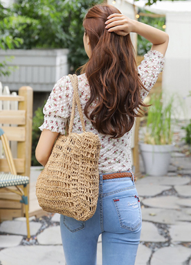 Woven Pinic Tote Bag, Styleonme