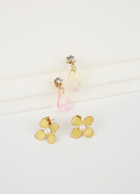 Flower 2Set Earrings, Styleonme
