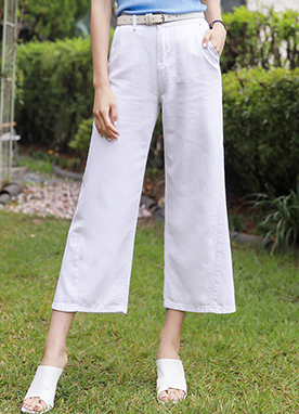 Cotton Wide Leg Pants, Styleonme